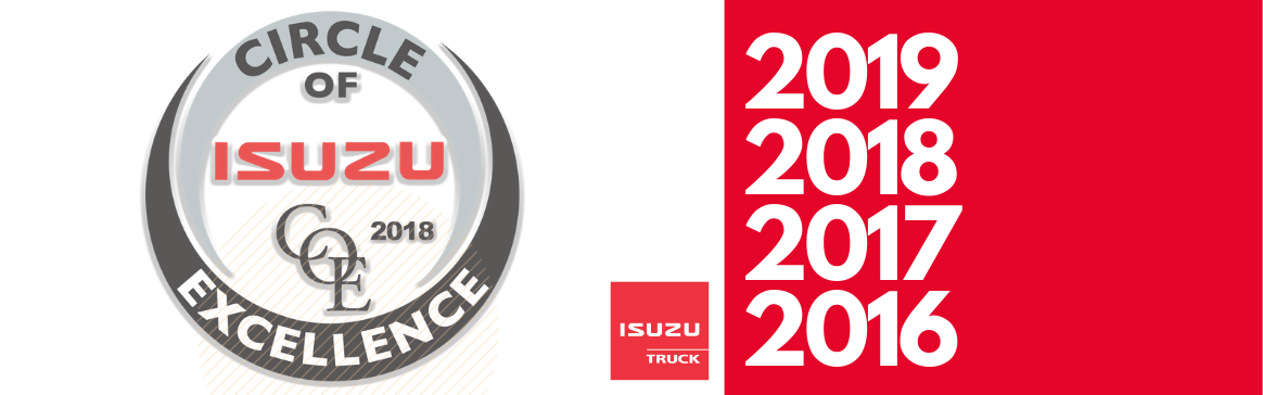 HFI Truck Center Achieves Isuzu's Circle of Excellence for 4th Consecutive Year